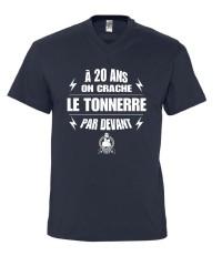 """T-shirt recto-verso """"20 ans"""""""